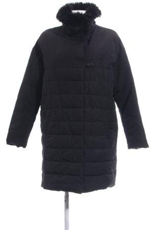 Promod Manteau matelassé noir motif de courtepointe style décontracté