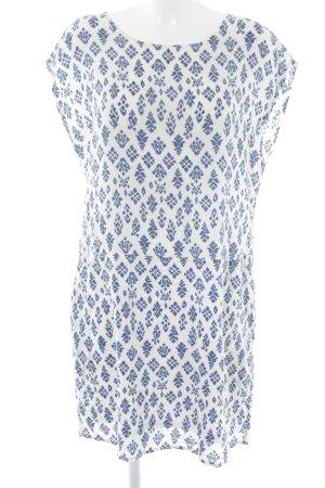 Promod Strandkleid weiß-blau abstraktes Muster Casual-Look
