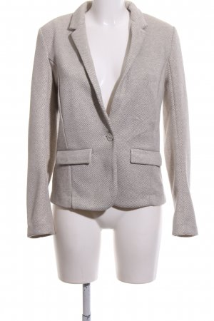Promod Knitted Blazer natural white-silver-colored striped pattern