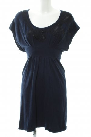 Promod Knitted Dress dark blue-black elegant