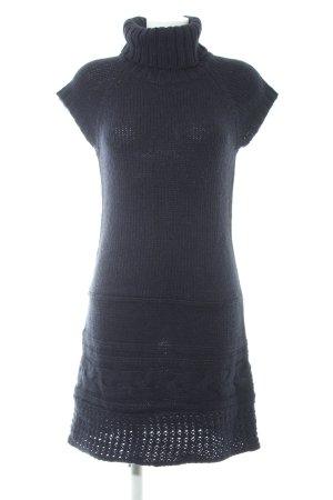 Promod Strickkleid dunkelblau Zopfmuster Casual-Look