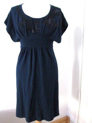 promod Strickkleid mit Perlen und Pailletten dunkelblau Gr.36