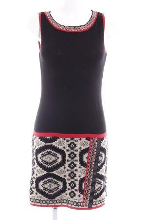 Promod Strickkleid schwarz-beige Aztekenmuster Street-Fashion-Look