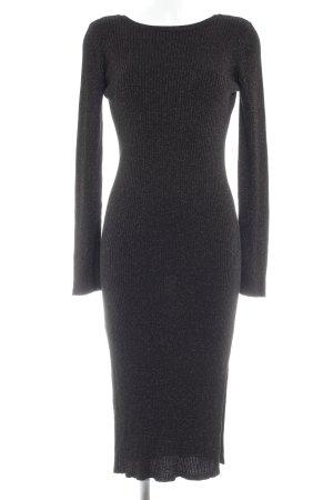 Promod Strickkleid schwarz-bronzefarben Street-Fashion-Look