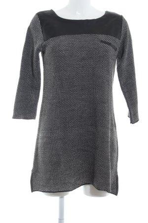 Promod Strickkleid schwarz-weiß Elegant