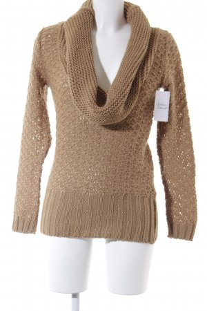 Promod Strickpullover hellbraun Casual-Look