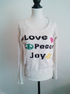 Promod Strickpullover LOVE * PEACE * JOY