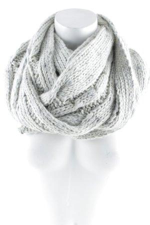 Promod Écharpe en tricot gris-gris clair torsades style classique