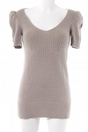 Promod Knitted Jumper light brown weave pattern casual look