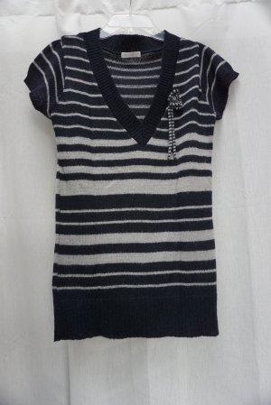 Promod Strickshirt, Strick, Ringel Streifen blau-grau, Gr. S, neuwertig, NP 40€