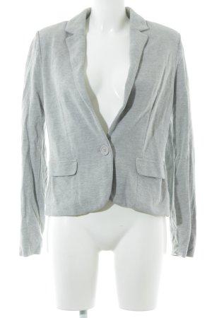 Promod Blazer de tela de sudadera gris claro look casual