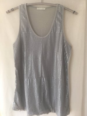 Promod Tank Top silver-colored
