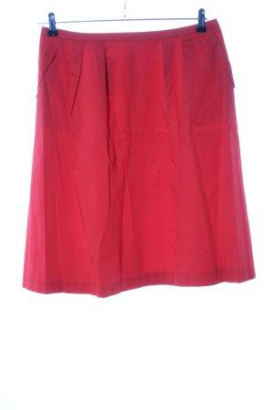 Promod Jupe corolle rouge style décontracté