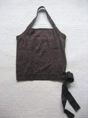 Promod Blusa sin espalda negro-color oro