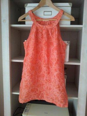 Promod Top / Tunika in M, Orange / Koralle mit grafischem Muster, TOP