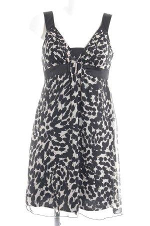 Promod Trägerkleid schwarz-creme abstraktes Muster Romantik-Look