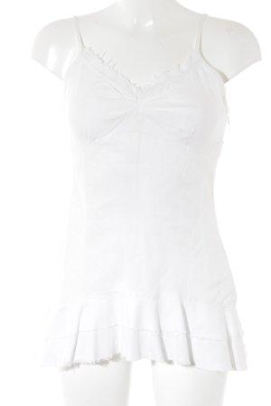 Promod Débardeur à bretelles blanc style romantique