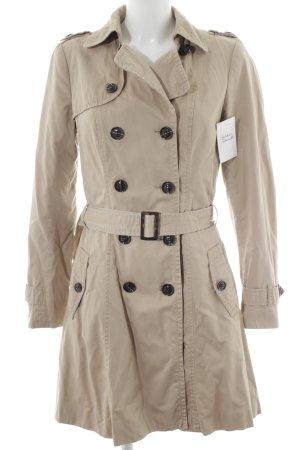 Promod Trenchcoat beige-schwarzbraun klassischer Stil