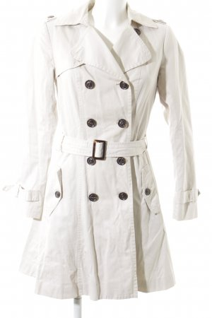 Promod Trenchcoat wollweiß-beige Brit-Look