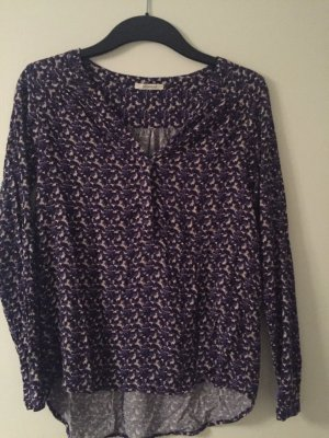 Promod Tunika Bluse Gr. 34 grafisches Muster deep purple