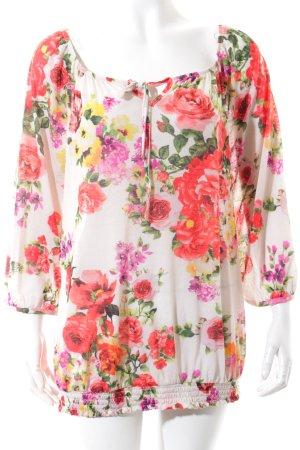 Promod Tunikabluse florales Muster Romantik-Look
