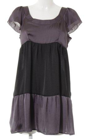 Promod Tunikakleid grauviolett-schwarz Streifenmuster Elegant