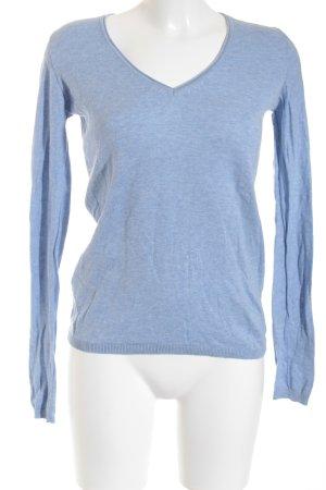 Promod V-Ausschnitt-Pullover himmelblau Casual-Look