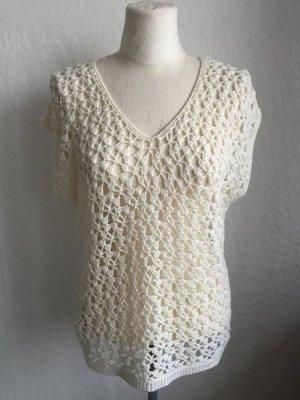 Promod Top en maille crochet multicolore