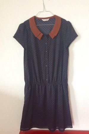 Promod Vintage Inspired Blue Dress