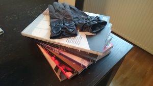 Promod vintage Samtleder Handschuhe