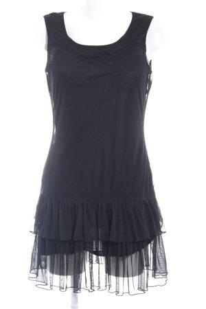 Promod Volantkleid schwarz Elegant