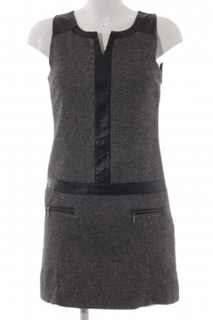 Promod Woolen Dress grey-black flecked elegant