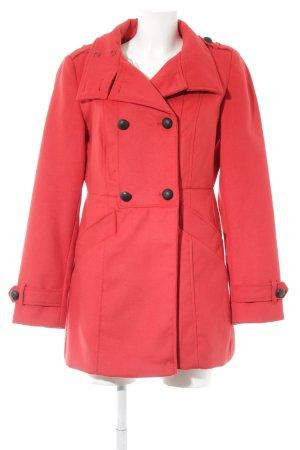 Promod Cappotto in lana rosso-nero stile casual