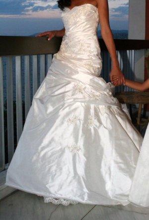 Pronovias Wedding Dress natural white-white silk
