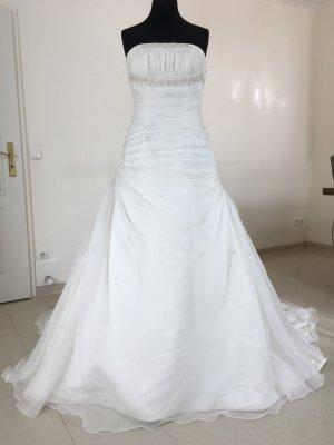 Pronovias Brautkleid Hochzeitskleid Standesamtkleid Gr. 40 Creme/Champagner