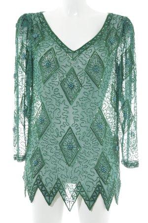 Pronovias Transparenz-Bluse waldgrün Elegant
