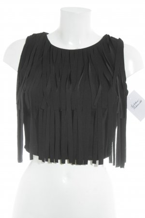 Pronto Cropped Top schwarz Party-Look