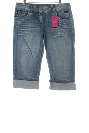 Protest Jeans a 3/4 blu pallido-grigio ardesia stampa stile casual