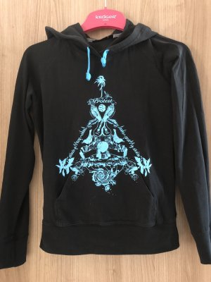 Protest Hooded Shirt black-turquoise