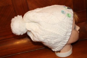 Protest Bobble Hat natural white