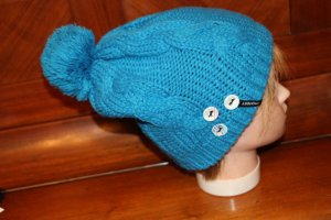 Protest Bobble Hat turquoise polyacrylic