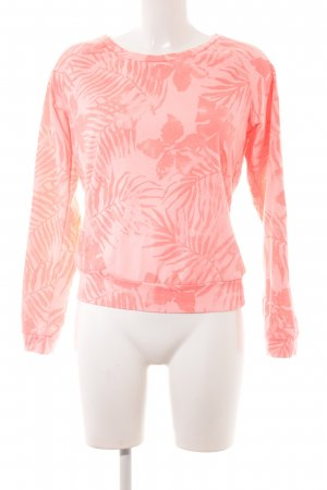 Protest Rundhalspullover hellrot florales Muster Casual-Look