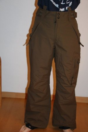 Protest Snow Pants brown-green grey polyamide