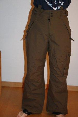 Protest Pantalon de ski brun-gris vert polyamide