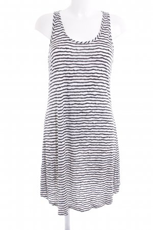 Protest Pinafore dress black-white striped pattern casual look