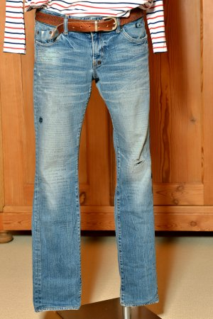 PRPS 29/32 Purpose Jeans used Stickerei und Print Text destroyed