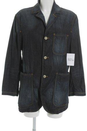 Prps Jeansjacke dunkelblau-gelb Street-Fashion-Look
