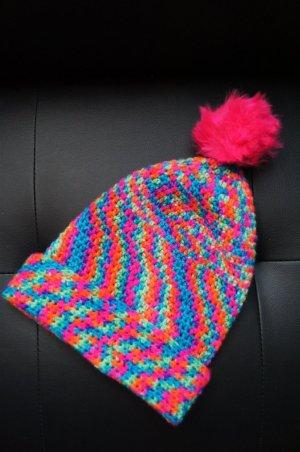 Psychedelic Beanie Mütze Strickmütze/ Protest gegen die graue Kälte