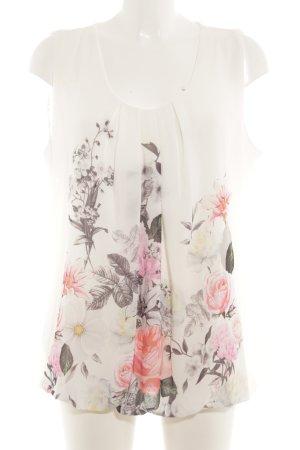 Public ärmellose Bluse florales Muster Elegant