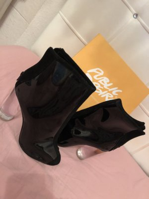 Public Desire Peep Toe Booties black